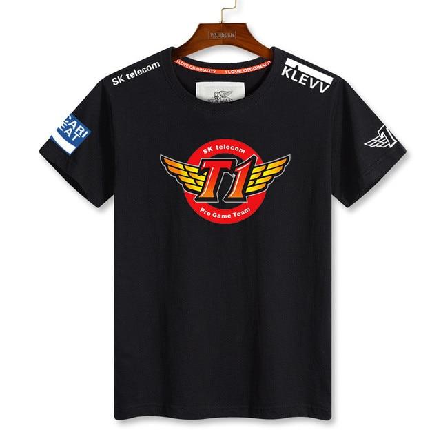 aca91120b 2016 Cotton Leisure Man's T-shirt Lol Skt T1 Faker Shirt Team Shirt Short  Sleeve