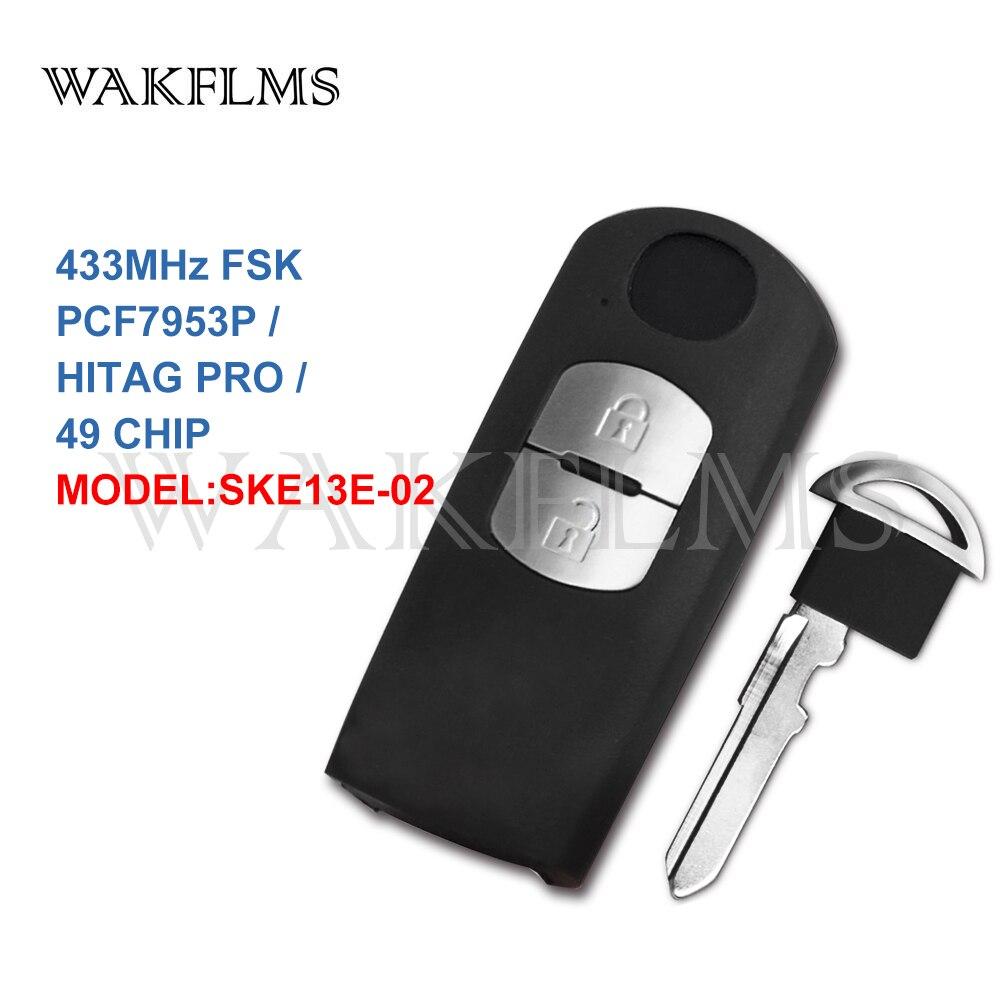 2 Button Smart Remote Car Key 433Mhz For Mazda Mitsubishi System with PCF7953P HITAG PRO 49