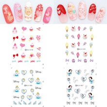 цена на DLS061-090 New Arrival Water Foils Nail Art Sticker Cartoon Hearts Harajuku Design Water Decals Manicure Little Element Sticker