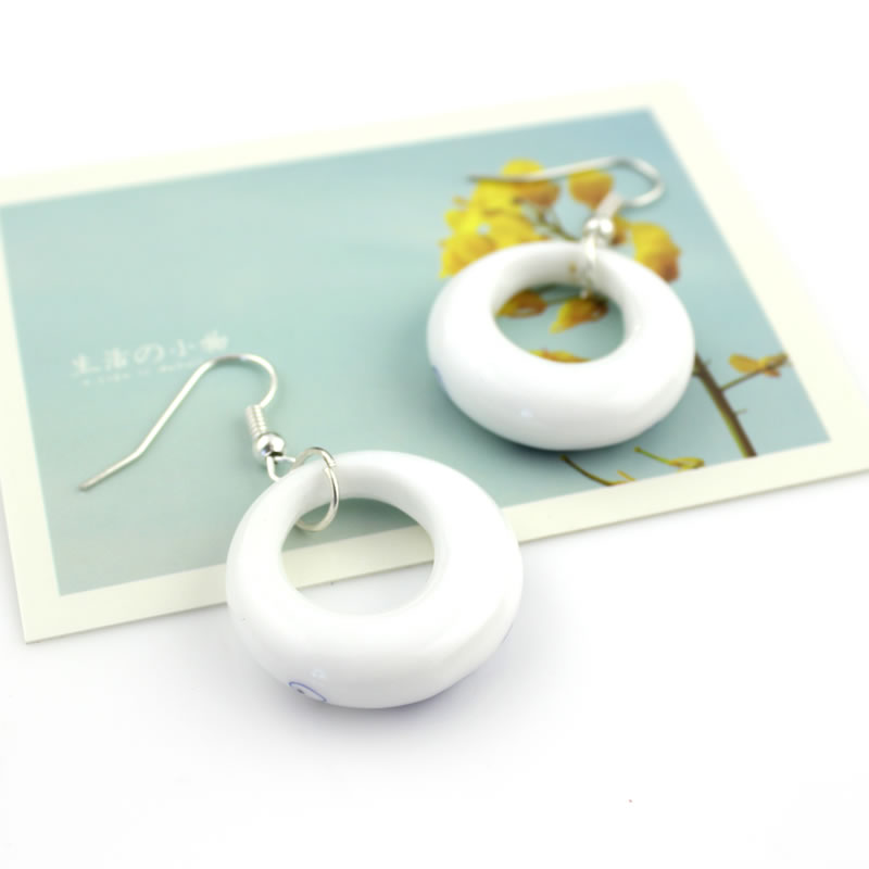 Fashion Romantic Blue and White Porcelain OL Earring Water Drop - Fashion Jewelry - Photo 5