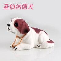 Dogs make cute animal models car creative Cute shake your the puppy head to swing bulldog statue