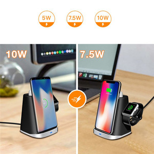 Image 5 - 3in1 Qi Wireless Charger Dock for Airpods/Apple Watch Charging Station for iPhone XR/XS/XSMAX/X/8/Samsung S9/S9+/S8/S8+/S7