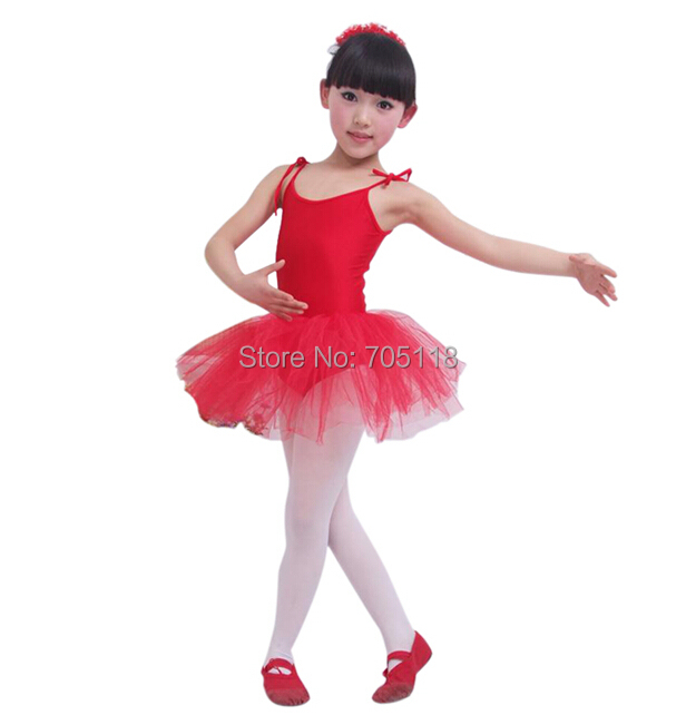 Children dance tulle dress girl ballet suspender dress fitness clothing performance wear leotard costume free shipping christmas dress professional ballet tutu fashion dance dress performance wear costumes th1034c hair accessory clothes children