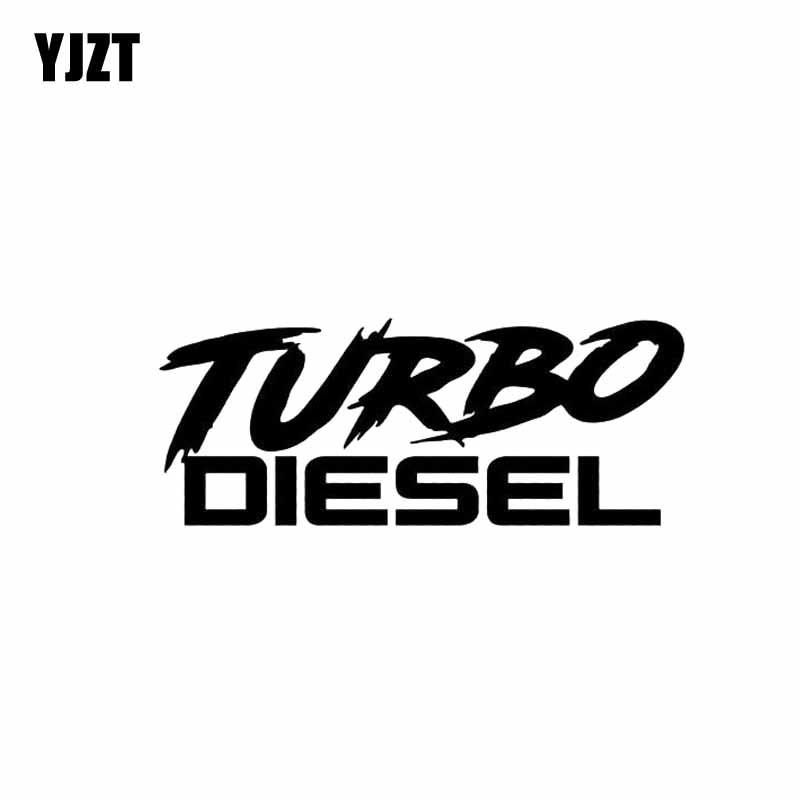 YJZT 12.9CM*5CM TURBO DIESEL Car Sticker Decal Funny Boosted Vinyl Black Silver C10-00932