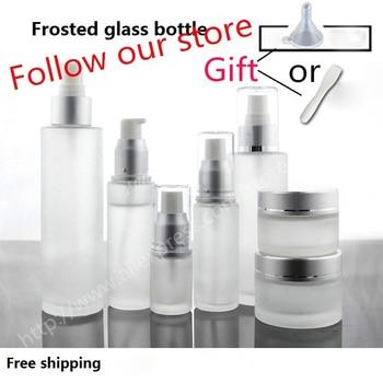 100pcs/lot 5g 10g 15ml 20ml 30ml 50ml 80ml 100ml 120ml spray bottles, Glass bottle for perfume, pressure ,  cream jars