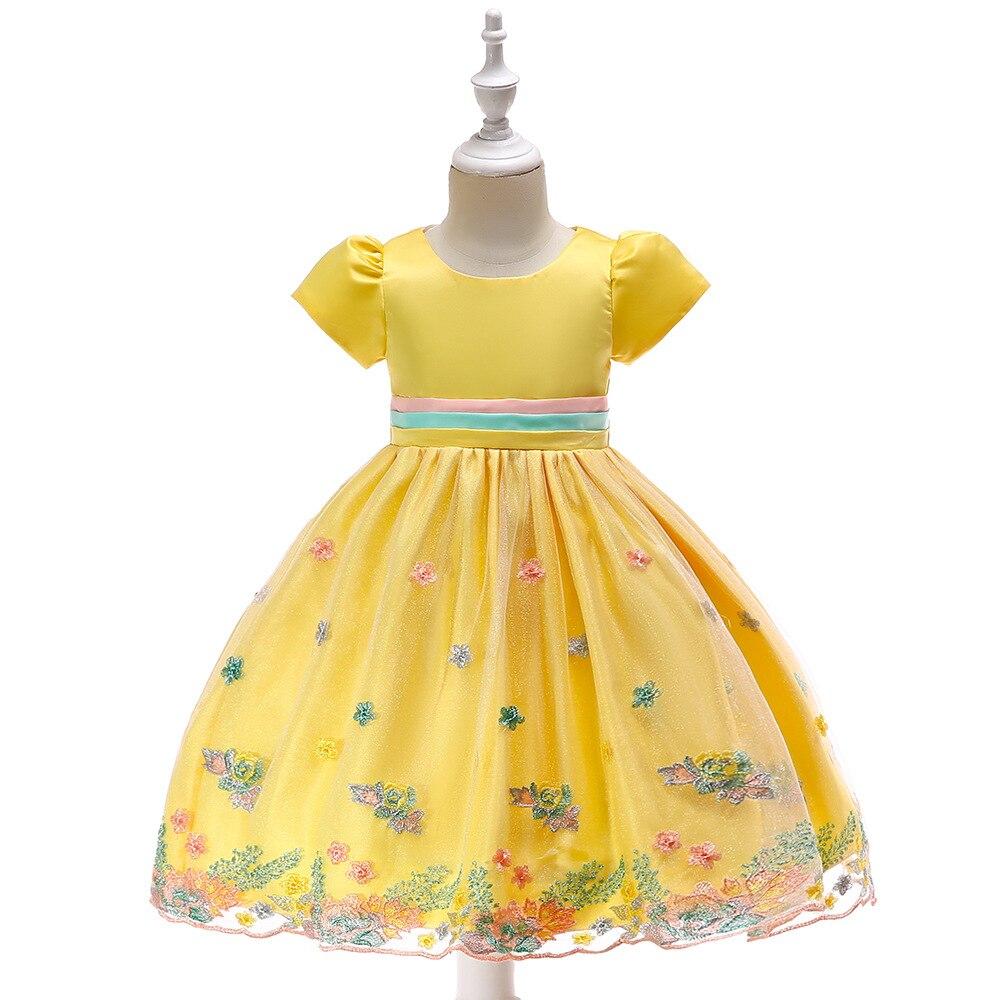 Knee Length Short Sleeves Tulle Flower Girl Dresses 2019 Applique First Communion Dresses Pageant Dresses For Girls