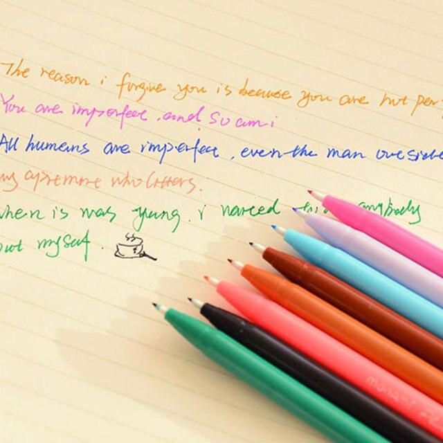24 Color Pen Set Monami Plus 3000 Gel Korean Stationery Canetas Z Office Material Escolar School Supplies 6261
