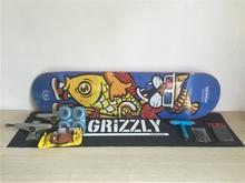 1Set Skateboard Completes Union Deck & Trucks Girl Wheel Toy Machine Bearings Plus Hardware Set Riser Pad & Installing Tool