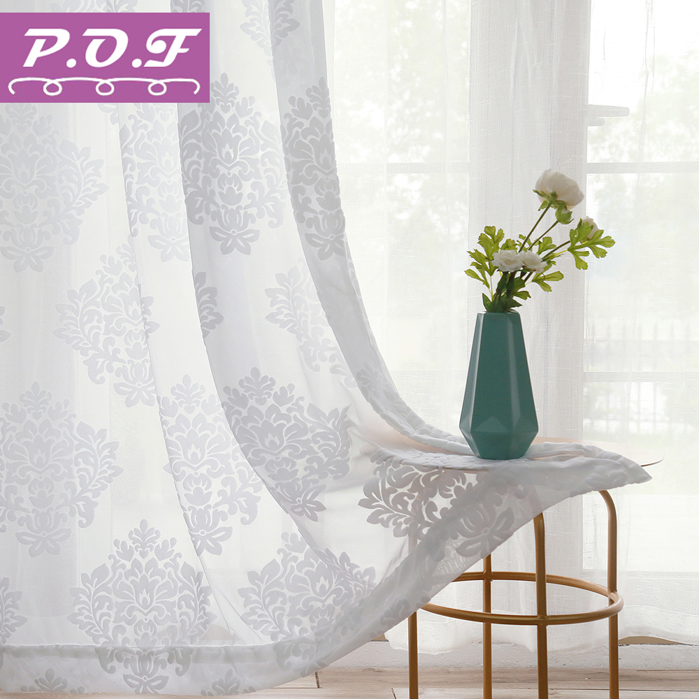 Big Discount #b25ef - P.O.F Luxury Decorative Voile Curtain ...