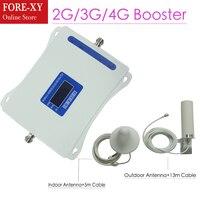 Новая Европа 2 г 3g 4G трехдиапазонный сотовый телефон усилитель сигнала 70dB GSM репитер WCDMA UMTS 2100 4G LTE 1800 усилитель комплект для дома