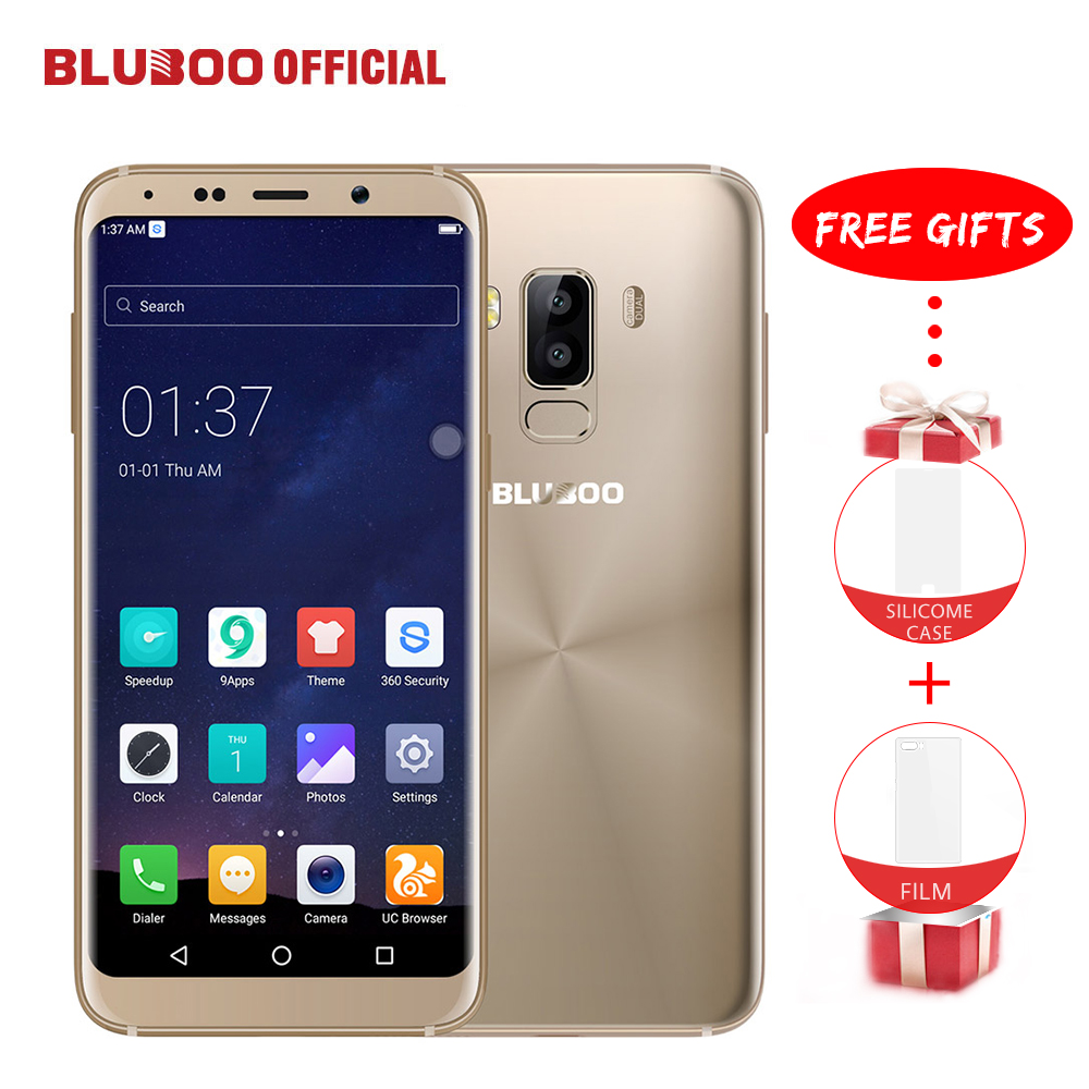 BLUBOO S8 5.7'' 18:9 HD Screen Mobile Phone Android 7.0 3GB RAM 32GB ROM MTK6750 Octa Core 13MP+5MP Fingerprint 4G Smartphone
