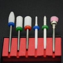 MAOHANG 6 шт. наборы керамических фрезов для ногтей сверла насадка электрическая дрель пилка маникюрная машина для гель-лака