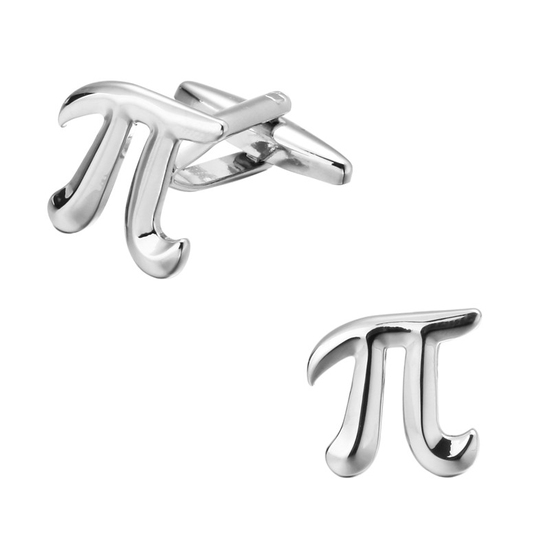 High quality mens wedding Cufflinks Silver mathematical symbols pi Cufflinks 2 pairs of  ...