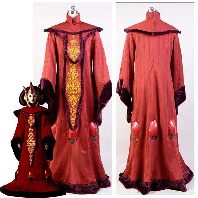 Star Wars Costume Star Wars Phantom Menace Queen Padme Amidala COSplay Costume Outfit Adult Halloween Costume Customized