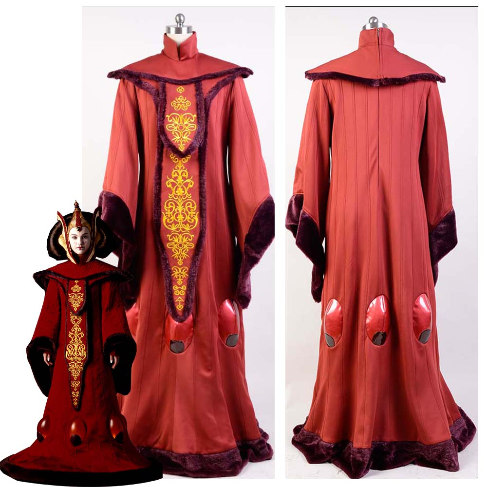 Star Cosplay Costume Wars Phantom Menace Queen Padme Amidala COSplay Costume Outfit Adult Halloween Costume Customized