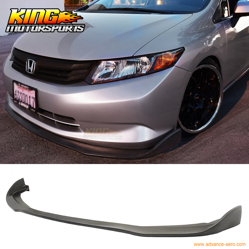 FIT FOR 2012 ONLY HD CIVIC 4D FRONT BUMPER LIP CS2-STYLE PU CHIN SPOILER