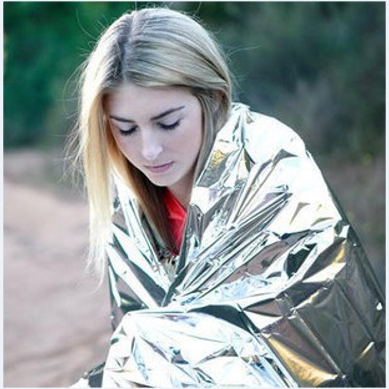 210*130 см 1 шт Серебряный альпинистский набор для выживания на открытом воздухе спасательное оборудование аварийный инструмент для выживания охотничье аварийное одеяло