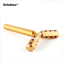 MIcro Current Vibration 24K Gold Beauty Bar Y Shape Germanium Face Lifting Massage Roller Body Celllulite Massage Tool BF4005
