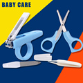 4pcs/set Baby nail scissors infant Babies Nail Care Set manicure nail clippers Kit Child safety Security Neonatal Care Products