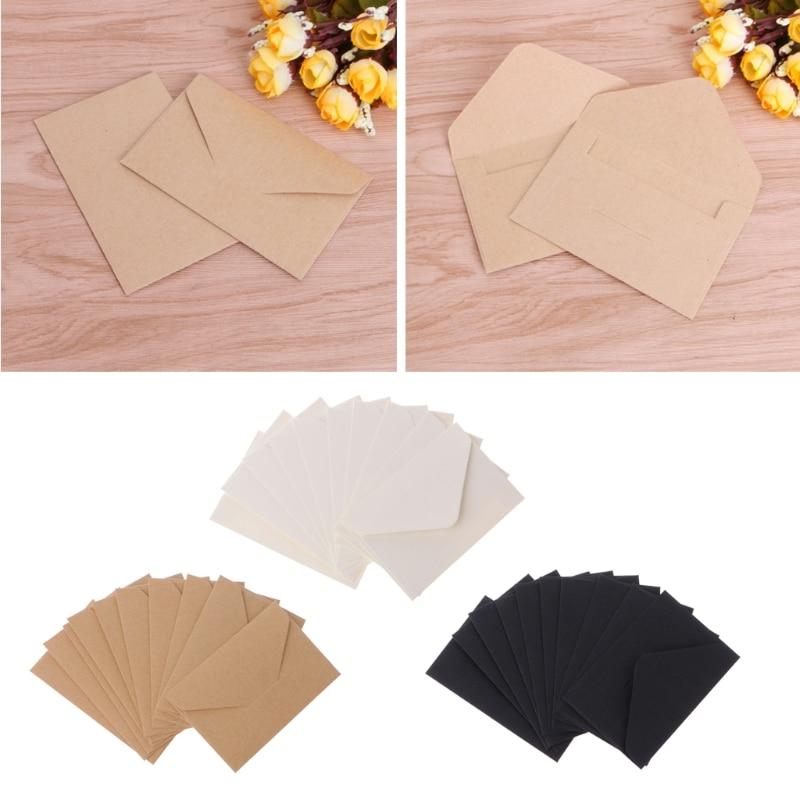 50pcs/lot Craft Paper Envelopes Vintage European Style Envelope For Card Scrapbooking Gift