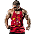Golds Tank Top Men bodybuilding stringer tank tops Fitness Mens Singlet Sleeveless shirt Workout Clothing GASP Cotton Gymwear