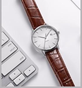 Image 5 - Original xiaomi mijia twentyseventeen relógio mecânico com superfície de safira pulseira de couro totalmente automático movimento mecânico