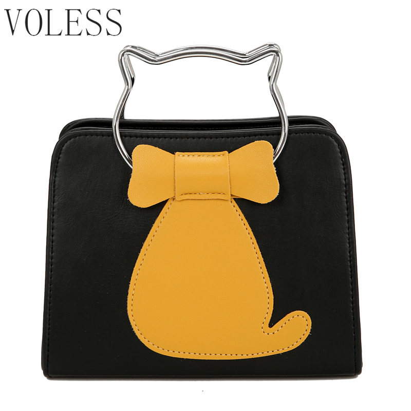 Famous Brand 2018 New Cat Embroidery Women Handbags Fashion Small Shoulder Bags Female Crossbody Bag Lady Bags Pu Leather