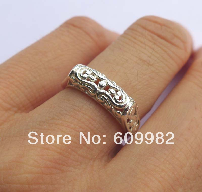 Wellmade Solid 925 Sterling Silver Unipue Antique Style Ring