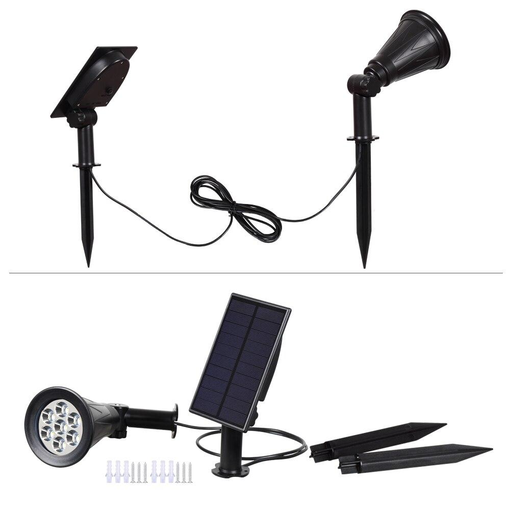 lampada led painel solar separado auto cor mudando 02
