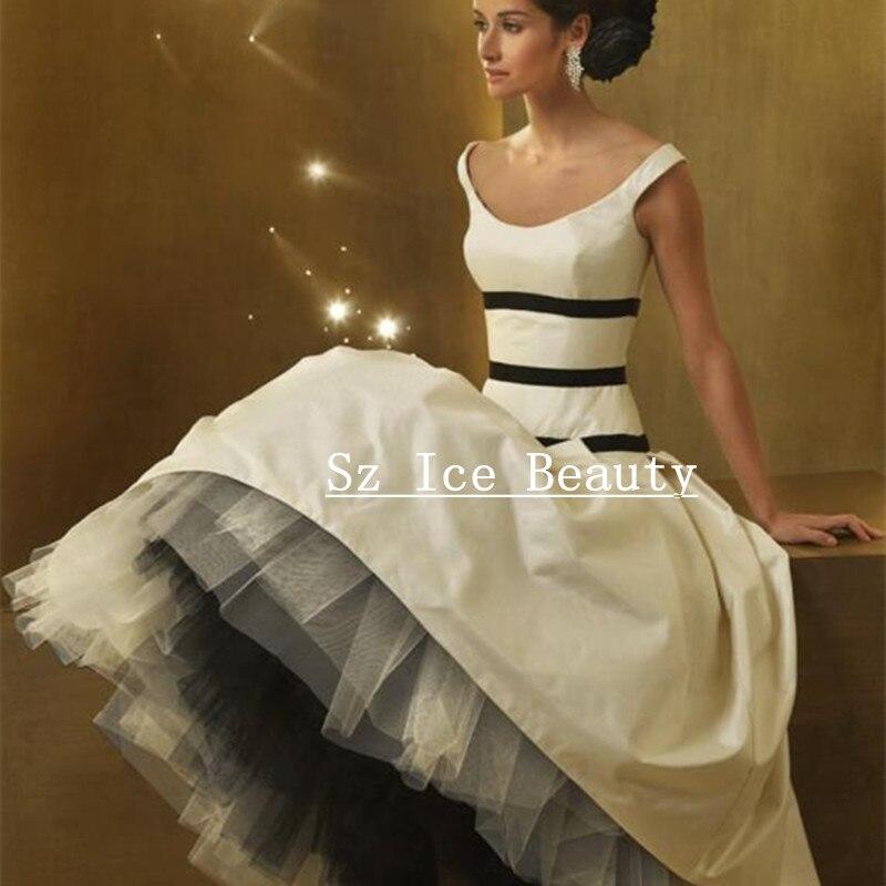 Puffy balón vestido De novia góticos vestidos con gradas De la falda Vintage mujer tafetán tul