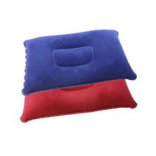 Inflatable Pillow Travel Air Cushion Camp Beach Car Plane Bed Sleep Head Rest