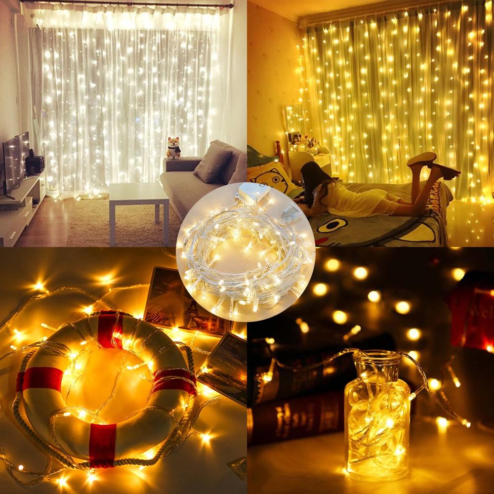 6M x 3M 600 LED-i kodu väljas puhkuse jõulud dekoratiivsed pulmad - Puhkusevalgustus - Foto 5
