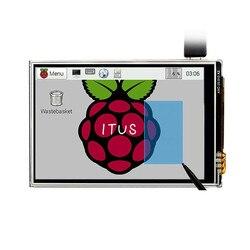 شحن مجاني 3.5 LCD TFT لمس عرض اللمس درع + ستايلس ل التوت بي 3 B +/التوت بي 3 نموذج B مجلس كيت