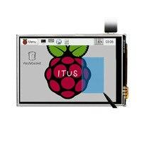 จัดส่งฟรี3.5จอTFT LCDหน้าจอสัมผัสสัมผัสโล่+สไตลัสสำหรับราสเบอร์รี่pi 2/ราสเบอร์รี่PI 3รุ่นBคณะกรรมก...