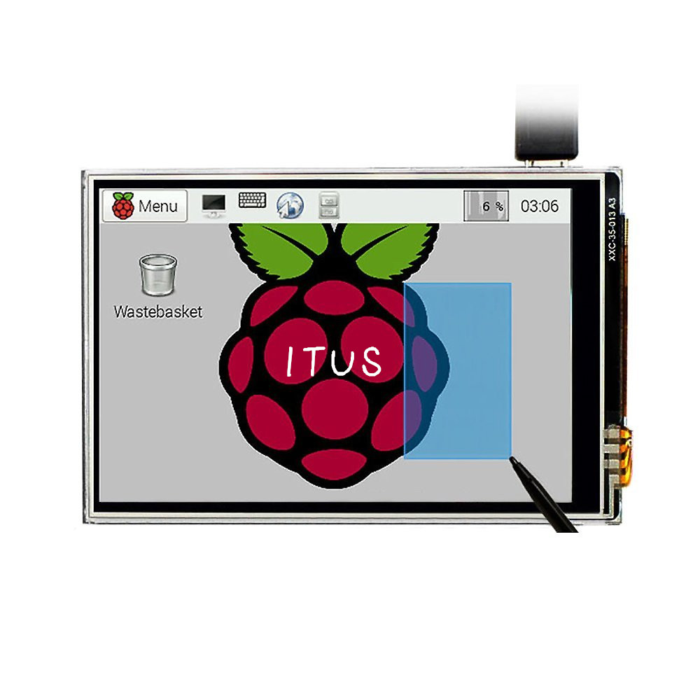 Free Shipping 3.5 LCD TFT Touchscreen Display Touch Shield + Stylus For Raspberry Pi 3 B+ / Raspberry PI 3 Model B Board Kit