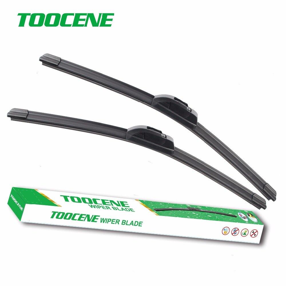 """Toocene Balais d'essuie-glace pour Citroen C3 Hatchback, 2002-2009 paire 24 """"+18"""" accessoires de pare-brise de fenêtre avant de voiture"""