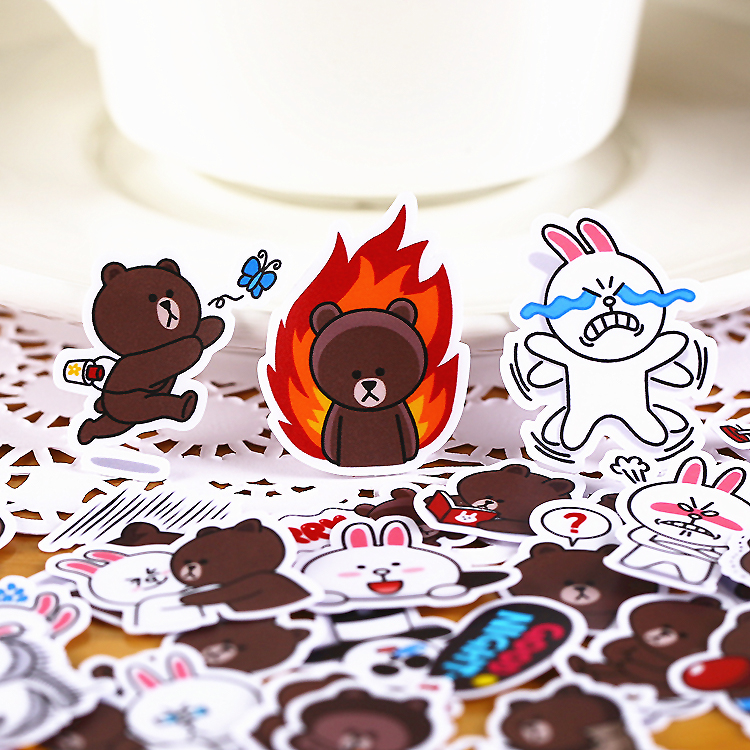 41pcs Creative Kawaii Self-made  Bears  Rabbit Dating 2 Beautiful Stickers /decorative Sticker /DIY Craft Photo Albums