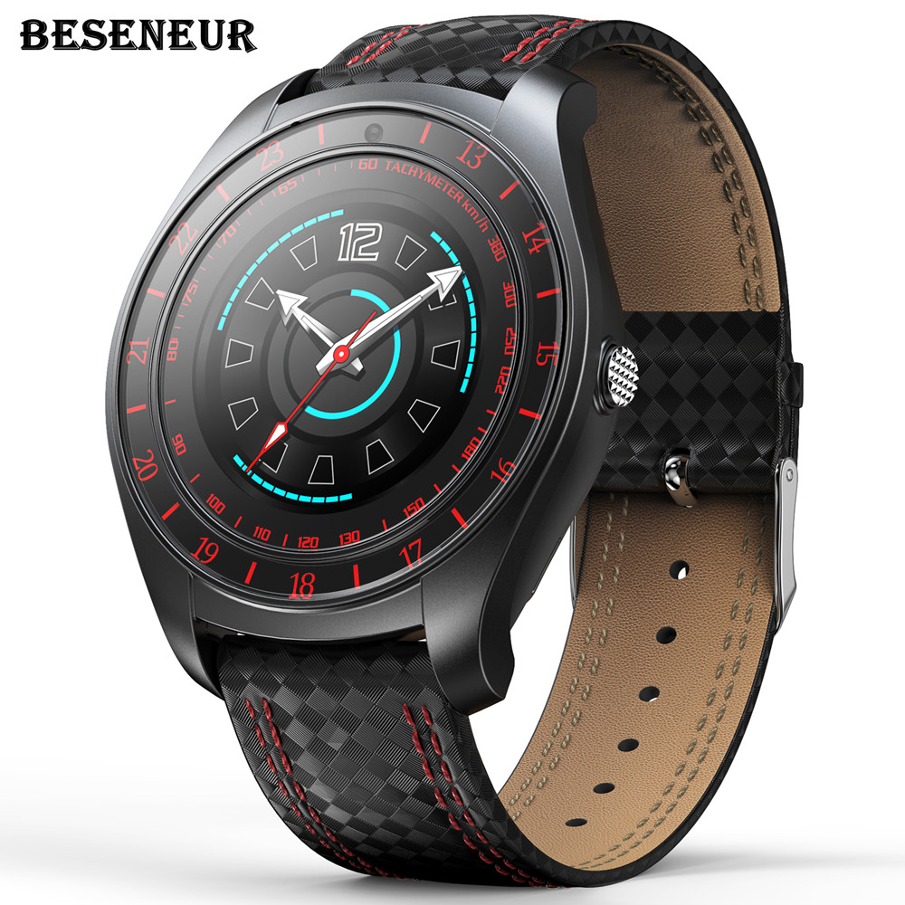 Beseneur Bluetooth Smart Watch Men <font><b>V10</b></font> With Touch Screen Big Battery Support TF Sim Card Camera for Android Phone <font><b>Smartwatch</b></font> image
