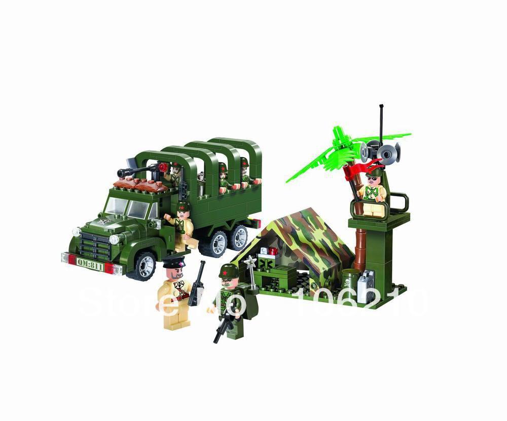 No.811 Carry Truck Enlighten Building Block Set,3D