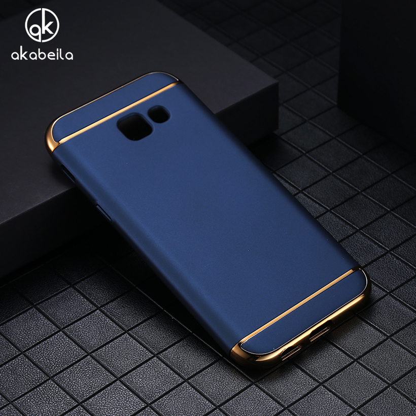 AKABEILA Phone Case For Samsung Galaxy A7 2017 Duos A720F A720F/DS A720 Covers Plating Hard PC Plastic Cases Shells Housing