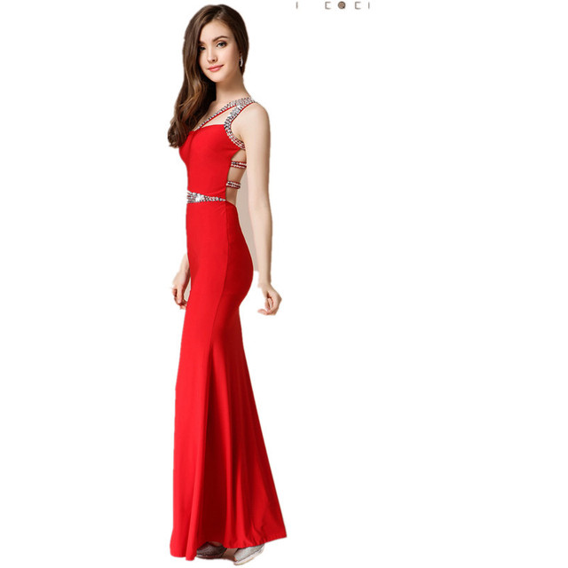 Summer Cheap China Backless Crisscross Red Black Prom Dresses With ...