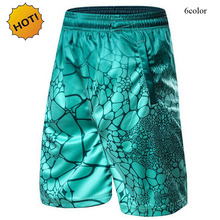 Top Quality 2016 Summer Style Indoor Ball Game Traning Shorts Men Breathable Quick-drying Pebbles Printed Leisure Shorts Loose