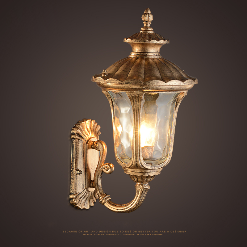 Vintage Antique Wall Decorative Lamp Outdoor Waterproof Sconce Retro Creative Iron Glass Stairway Aisle Balcony Light Wl222 In Lamps From Lights