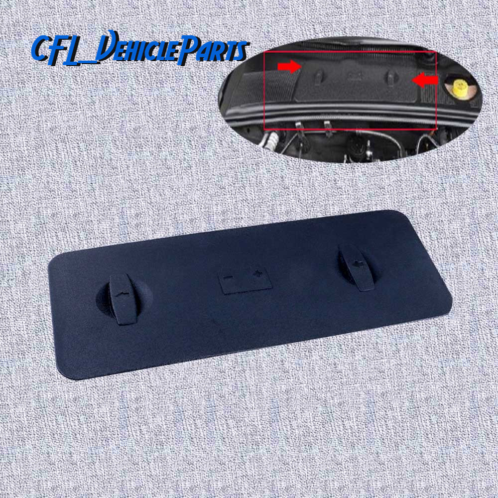 Black Battery Tray Cover Cap LHD 8E1819422A For <font><b>Audi</b></font> <font><b>A4</b></font> 8E S4 Quattro B6 B7 2001 2004 <font><b>2005</b></font> 2006 2007 2008 RS4 2006 2007 2008 image