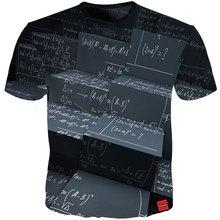 Cloudstyle 2019 3D T-shirt Men Math Formula Print New Design Simple Short Sleeves Harajuku Tee Shirts Summer Tops Streetwear