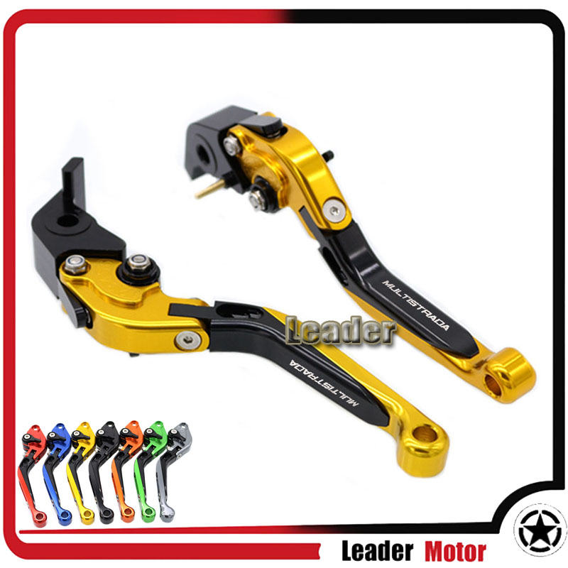 ФОТО For DUCATI MULTISTRADA 1200 1200S 1200GT 2010-2016 Motorcycle Folding Extendable Brake Clutch Levers Gold