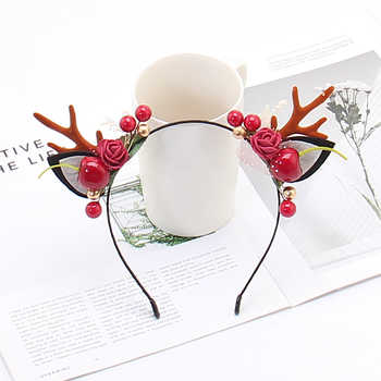 Christmas Masquerade Party Princess Queen Lace Hollow Hairbands Halloween Forest Antlers Hairwear - DISCOUNT ITEM  0% OFF All Category