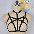 Mulheres New Black Harness gaiola Bra gótico Harajuku arnês de corpo presente do dia dos namorados Harness Bra bondage Harness