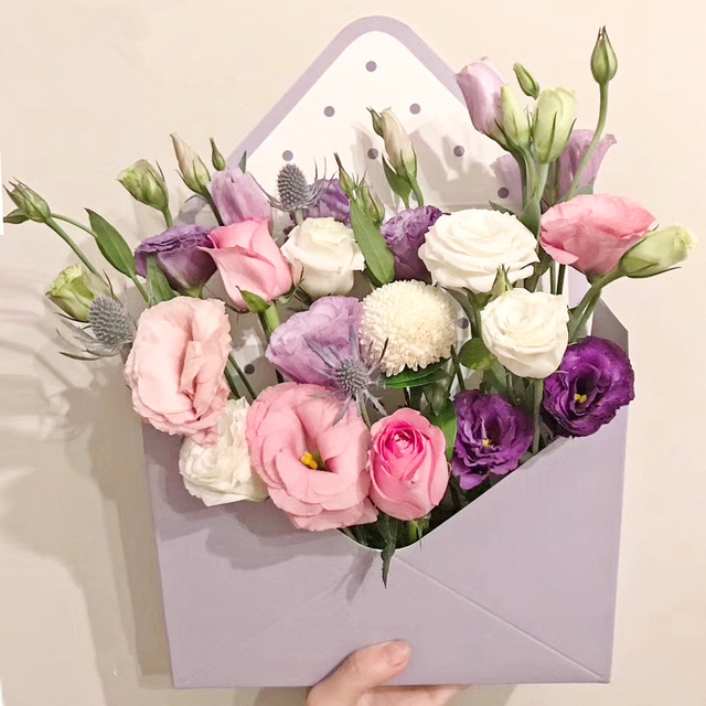 4pcs 20x7x145cm creative paperboard envelope fold flower box 4pcs 20x7x145cm creative paperboard envelope fold flower box flowers wrapping gift box flower packaging mightylinksfo