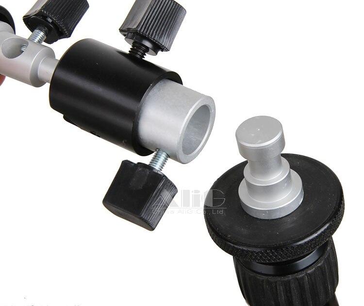 (D) Camera Flash Bracket Hot Shoe Umbrella Holder Swivel Light Stand Adapter Photo Studio Accessories